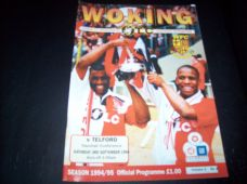 Woking v Telford United, 1994/95